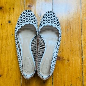 Chloé Perforated Round-Toe Flats
